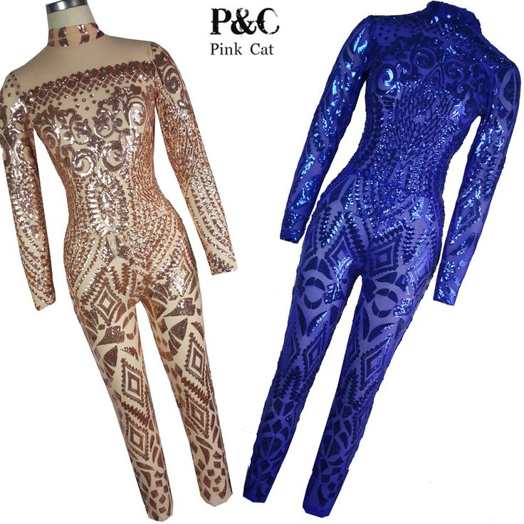 2017 New Summer Women Jumpsuit Romper Sequin Rompers Womens Jumpsuit Big Size Elegant Bodycon Jumpsuit African Bodysuit