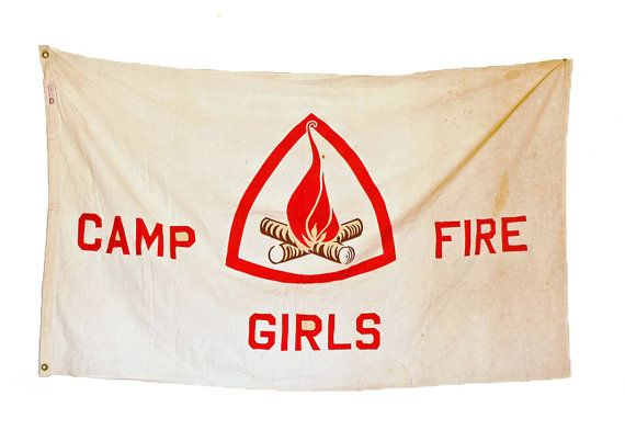 1950's Campfire Girls Flag by abrshop on Etsy, $250.00