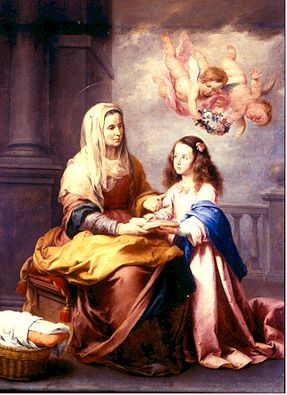 St. Anne and Mary  (St. Anne is the patron of seamstresses)