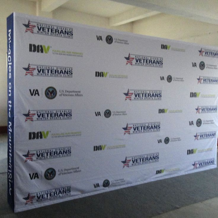 Press Conference Backdrop Featuring Sponsor And Event