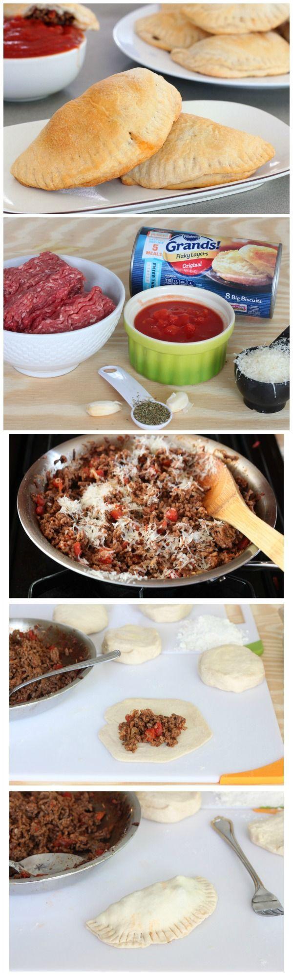 Easy empanadas with an Italian twist for dinner tonight!