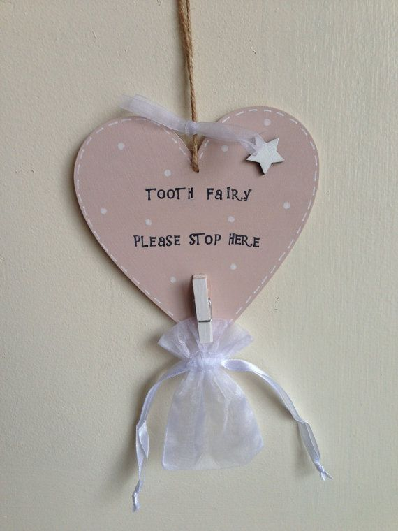 Tooth Fairy Plaque by TwinkleTwitCrafts on Etsy, £5.00