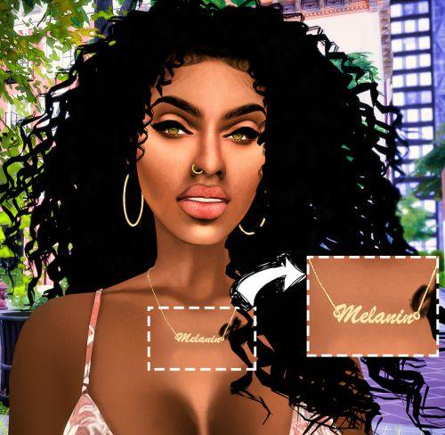 Ebonix Melanin Necklace Sims 4 Cc Pinterest Sims