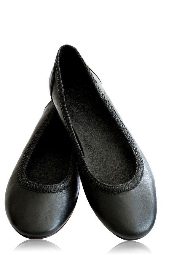 AISÉ. Black flats / black leather shoes / black leather flats / leather shoes women. Sizes US 4-13. Available in different leather colors. on Etsy, $110.00