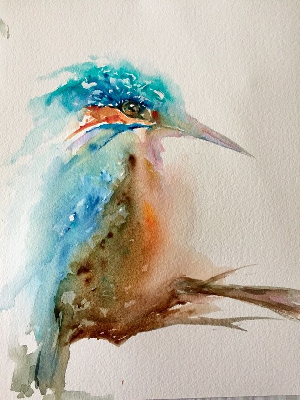 We just love the colours in this little kingfisher created by member Diana-B.