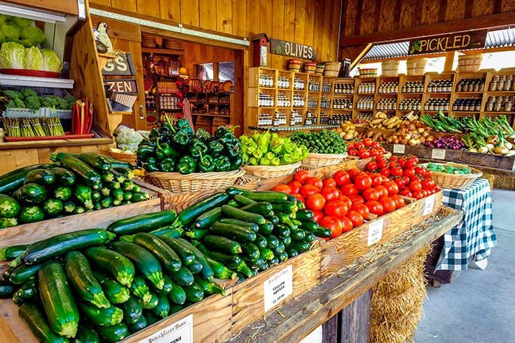 vegetables - farm shop display idea