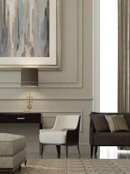 Wall Panels With Modern Furnishings Baroque Interior