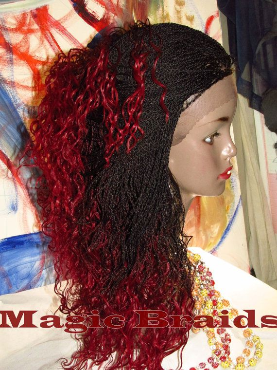 Fully Braided Whole LACE WIG Micro twists Color by ...