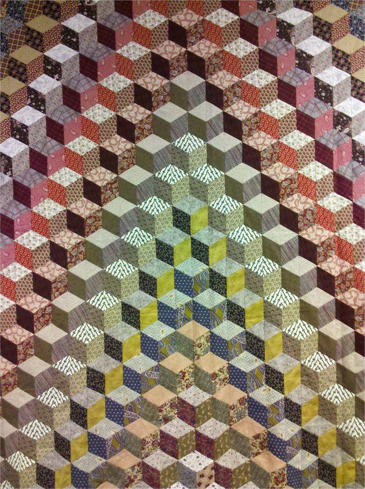 Quilting Patterns Tumbling Blocks : tumbling blocks pattern by prairie flower quilt co. Quilts - Tumbling Blocks/Illusion ...