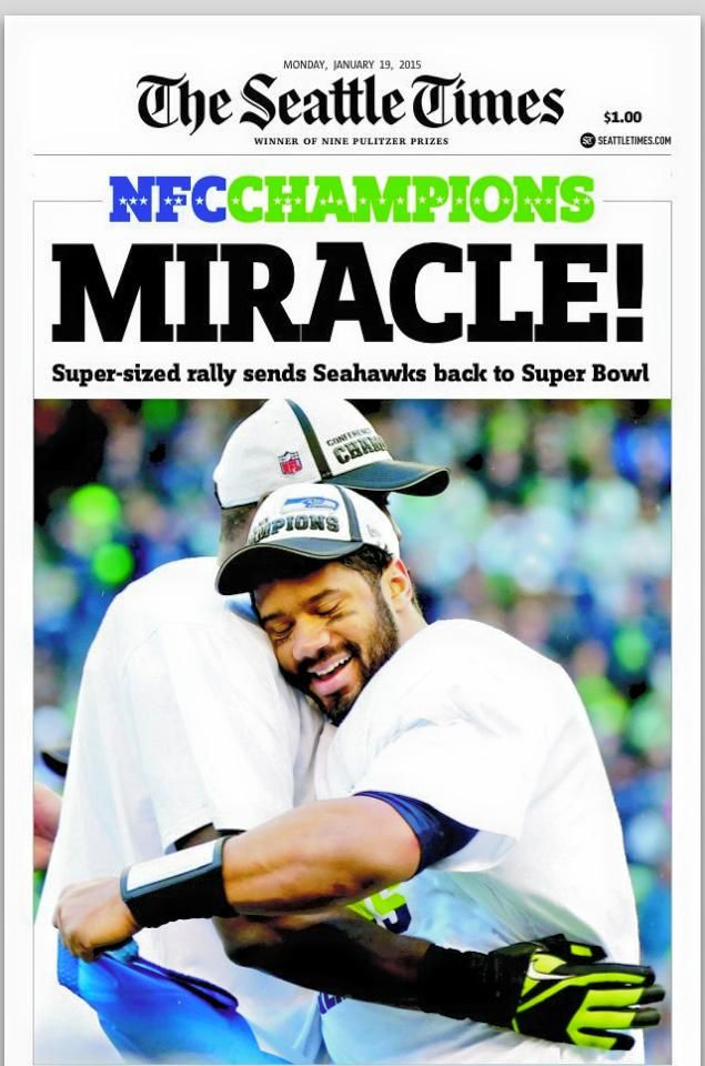 #Russell Wilson #Miracles Do Happen #SuperBowl 2015