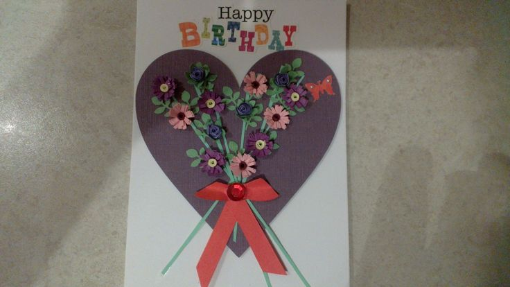 Birthday card I made for my Sissa Rosie