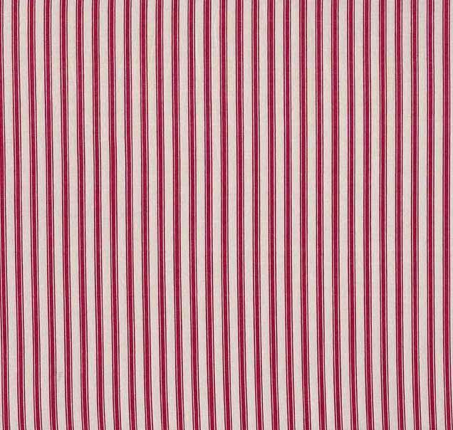 Ticking Stripe - Red Cream - £9.40/m