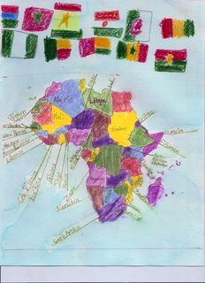 Continents and Cultures: Africa (didn't check link yet, but like the idea of the flags, perhaps making a border around the continent.