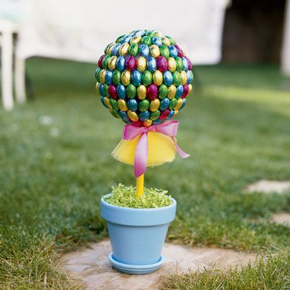Easter Topiary Tree Craft | Spoonful