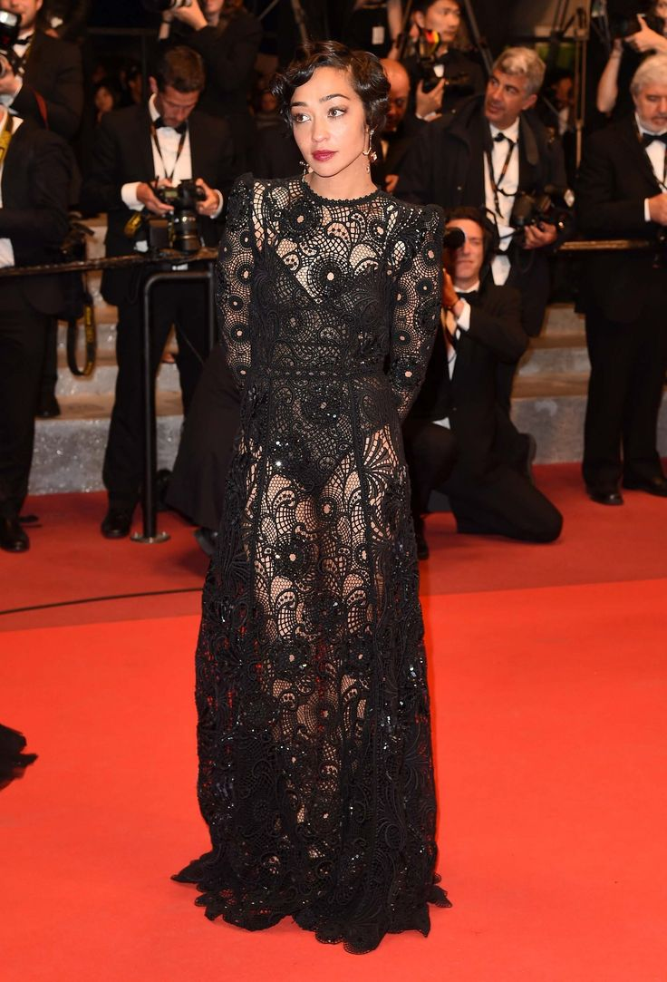 Ruth Negga in Marc Jacobs at Cannes.