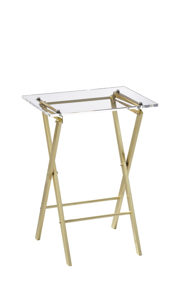 Jennie Garth's Pick: Novo Acrylic Folding Table, cb2.com #design #home #decor