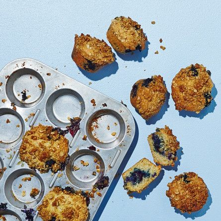 Gluten-Free Blueberry Muffins with Oat Crumble Recipe