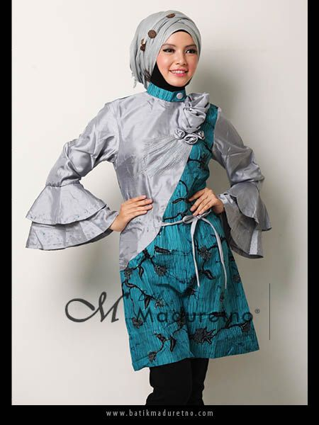 Sort Dress Batik Pesta Modern