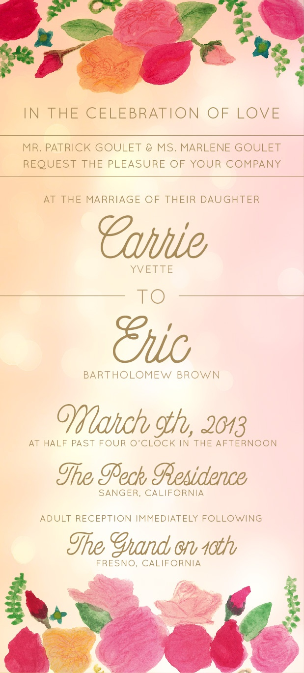 71 best Wedding invitation images on Pinterest | Wedding ...