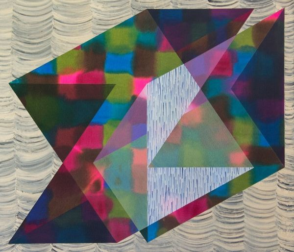 "Nicole van Beek, Curtain Call, 2012.  Acrylic on canvas.  25"" x 29"""