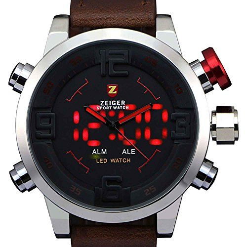 Zeiger Military Watch Mens Big Face LED Marine Corps Digital Analog Vietnam Sport Watch,Special Forces Army Boyfriend Watch