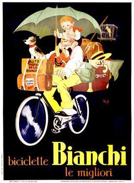 Vintage Bianchi poster.