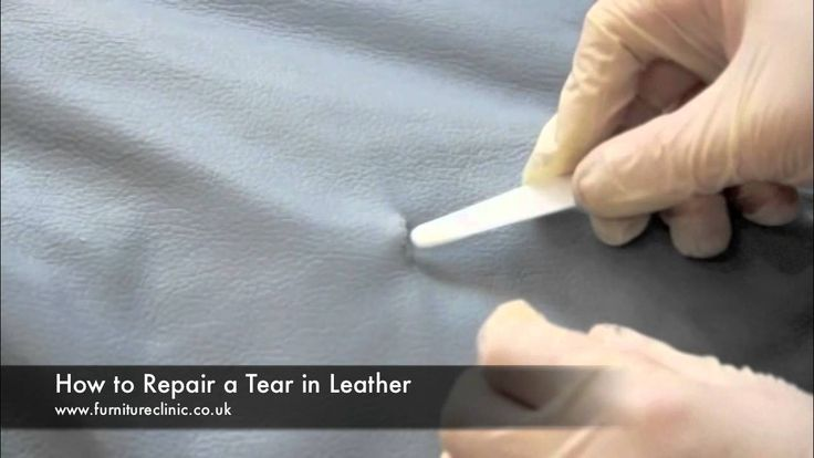 This video demonstrates how to repair a tear in leather. Using this technique you could also repair a hole, split or rip.