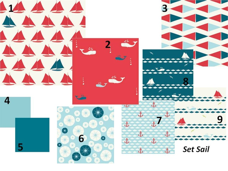 LOVE IT!!!  Baby Boy Crib Bedding Organic Set Sail Custom Set. $180.00, via Etsy.