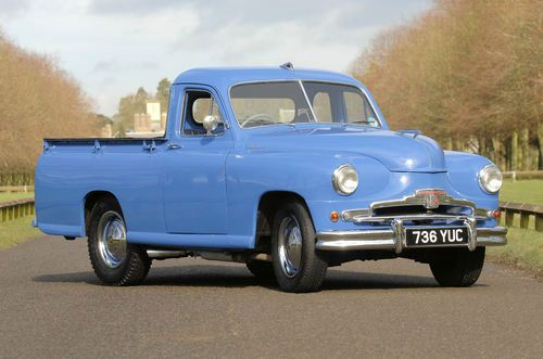 1950s Standard Vanguard pick-up truck as seen on Retro to Go.