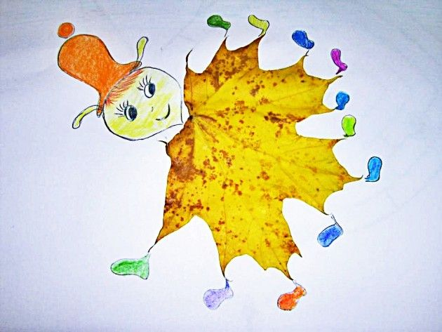 crafts with autumn leaves: