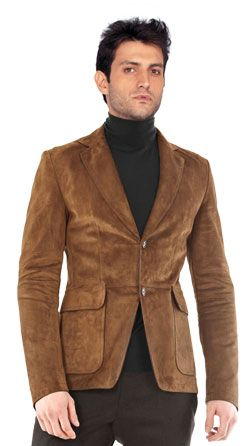 Shirt style leather blazer for men price:$320