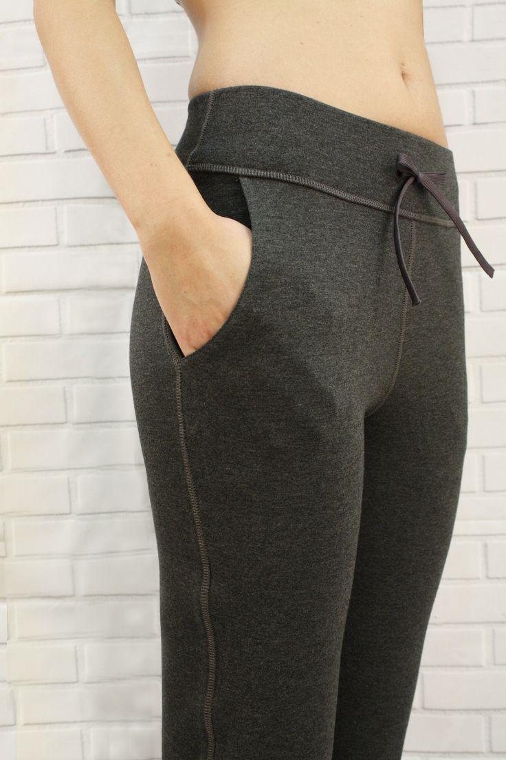 Cozy Pants in Heather Grey - long pants, cozy bamboo fleece