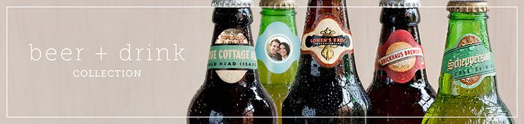 personalized beer labels for bottled favors or personalized coasters for favors evermine.com but http://www.labelsonthefly.com also does them.