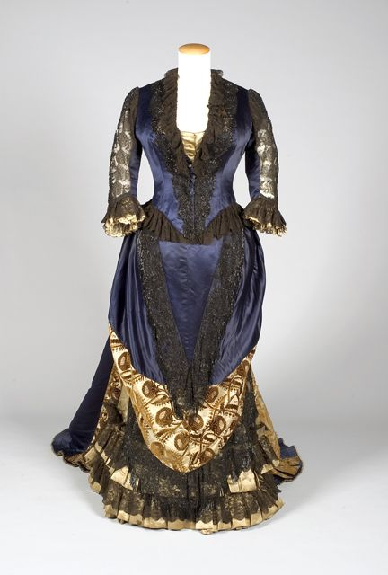 Worth reception dress ca. 1885-90  From Indiana State Museum