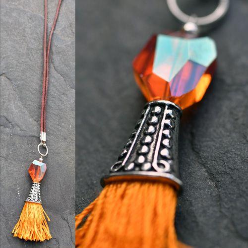 Oranžový náhrdelník