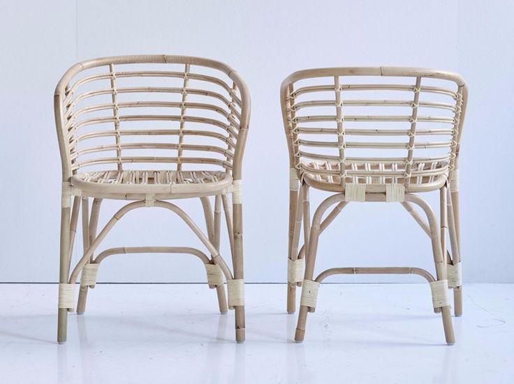 Sedia in rattan con braccioli blend by Cane-line design Foersom