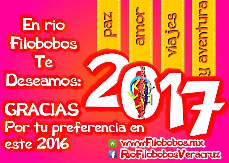 Que remos darte las gracias por tu preferencia a lo largo de este 2016 y te deseamos para este #2017 #paz #amor #viajes y #aventura FELICIDADES http://www.filobobos.com