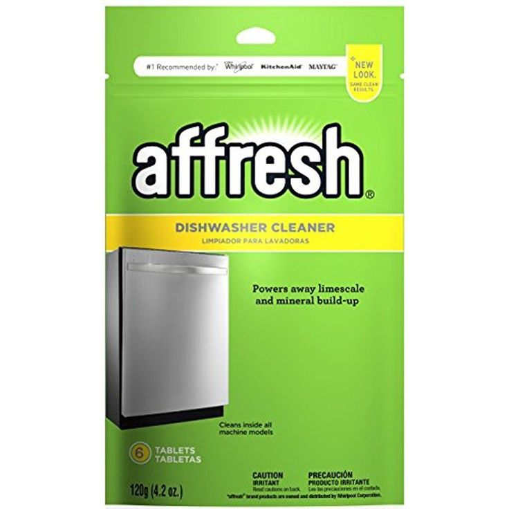 Affresh Dishwasher Cleaner 6 Tablets Remove Odor Causing Residue W10282479 #Affresh