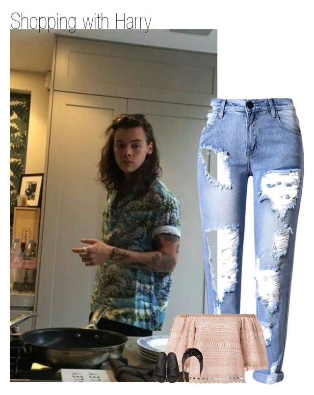 """Shopping with Harry"" by sexyirishman ❤ liked on Polyvore featuring Alexis and Valentino"