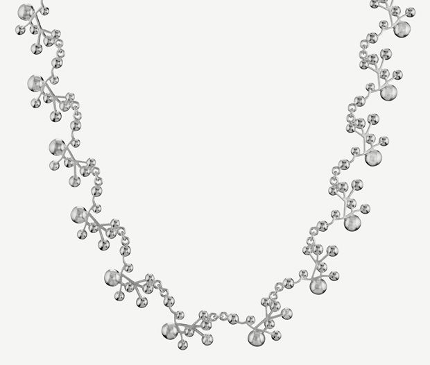 """""""Lumoava Stella"""" (quote) necklace made of sterling silver Finnish design by Carina Blomqvist Made in Finland by saurum.fi"""