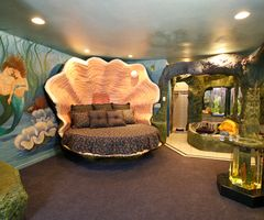 """A disney room for a girl or just a fun """"under the sea"""" them for a play room. This will make nap time a thing to look forward to!"""