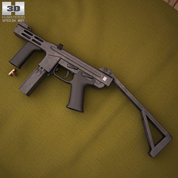 Spectre M4 3d model from humster3d.com