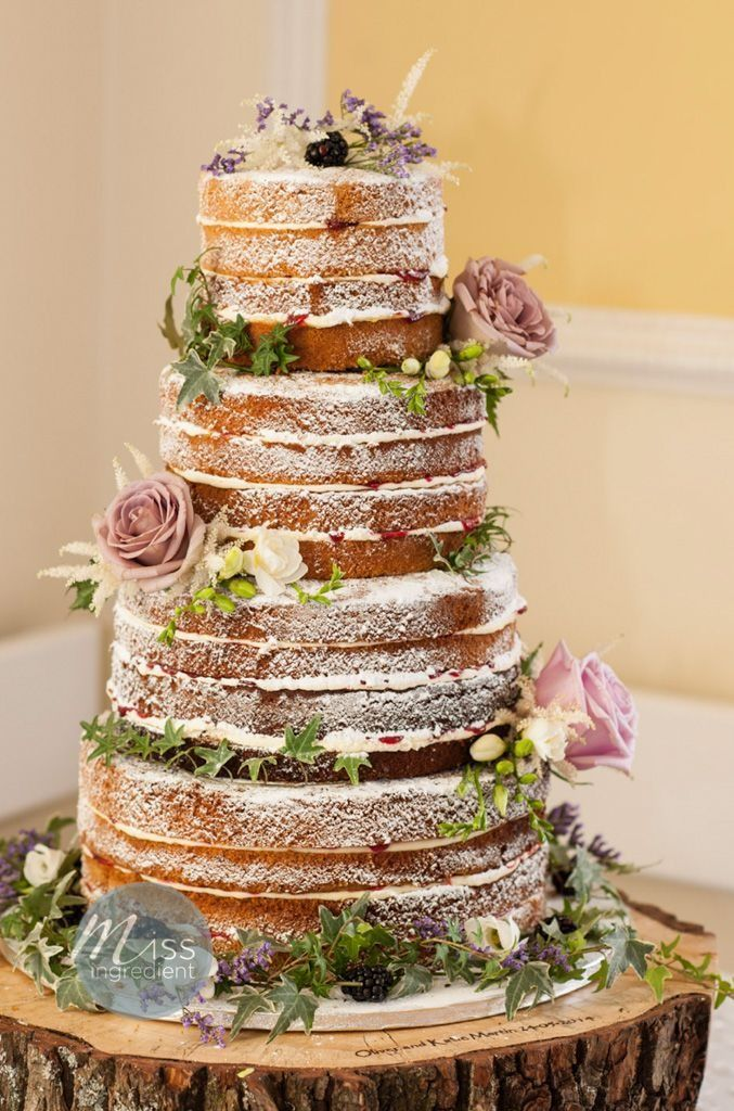beach themed wedding cakes pinterest%0A Naked Wedding Cake  set to be a huge trend for Weddings this year