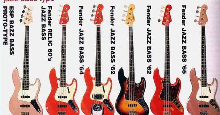 Identificando um baixo Fender Jazz Bass. O Fender Jazz Bass (ou J-Bass) pode ser facilmente reconhecível pelo braço. O Jazz Bass original possui um braço com 22 trastes e 87 centímetros de comprimento. A espessura do braço é de 3,8 cm, mais fino do que o de um baixo Precision Bass (P-Bass), que possui 4,7 cm. A espessura pode não ser tão facilmente reconhecível, mas assim que você ...