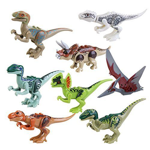 Pixnor Jurassic World jouets Jurassic parc Dinosaur Building blocs Abs 7CM Pack de 8: Cet article Pixnor Jurassic World jouets Jurassic…