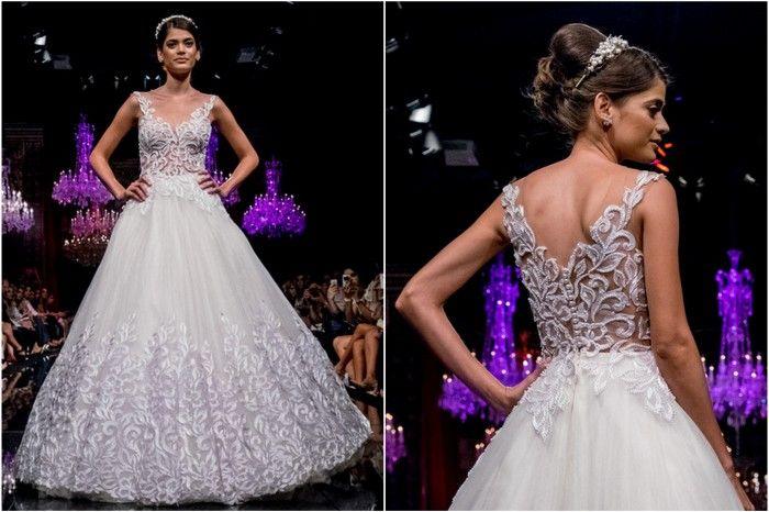 Vestido da Solaine Piccoli desfilado no Casamoda Noivas 2015
