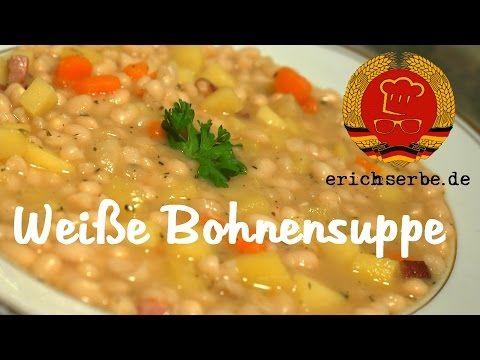 Weiße Bohnensuppe (von: J. Daum) - DDR Rezepte für ostdeutsche Gerichte zum Kochen, Backen, Trinken & alles über ostdeutsche Küche | Erichs kulinarisches Erbe