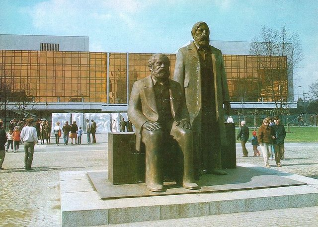 East Berlin, 1980. Karl Marx and Friedrich Engels.