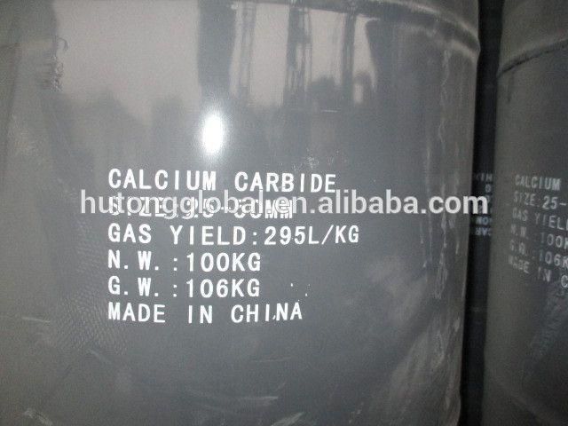 Calcium Carbide 25*50mm 295L/kg CaC2