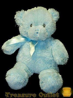 Gund Baby Boy Blue Stuffed Plush Small Teddy Bear 10in